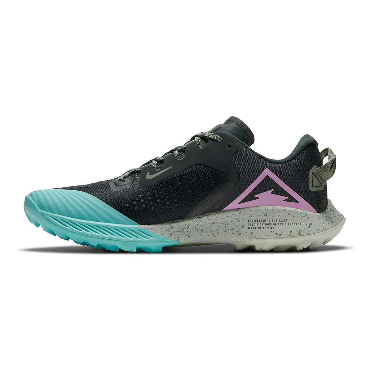 Women's Nike Air Zoom Terra Kiger 6 Trail Running Shoe - Color: Seaweed/Beyond Pink - Size: 5 - Width: Regular, Seaweed/Beyond Pink, large, image 2