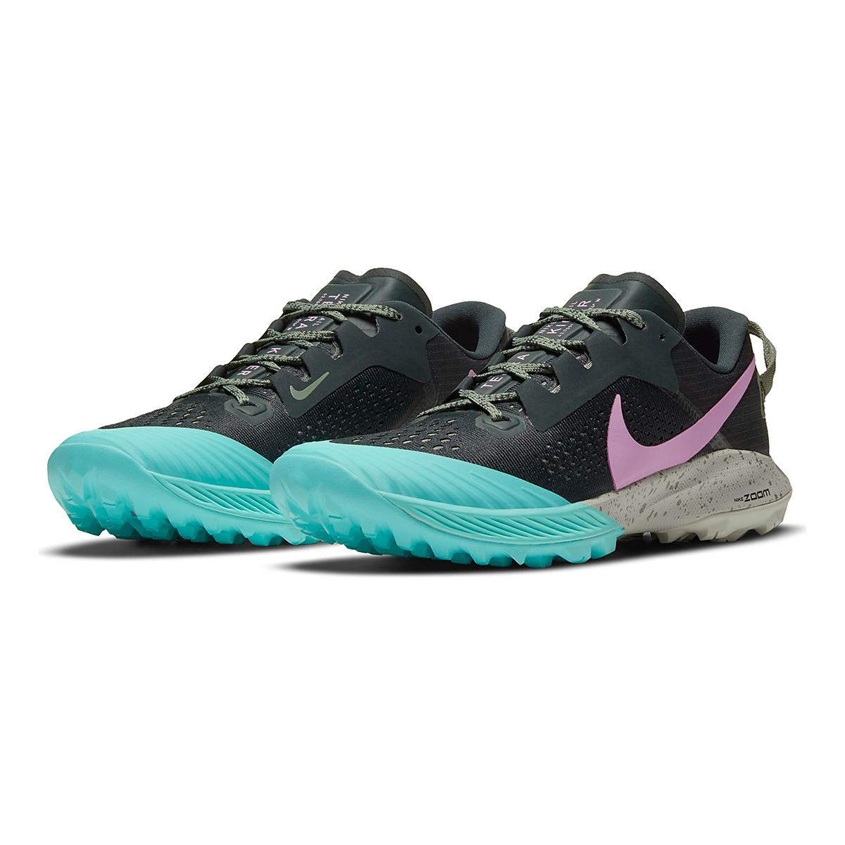 Women's Nike Air Zoom Terra Kiger 6 Trail Running Shoe - Color: Seaweed/Beyond Pink - Size: 5 - Width: Regular, Seaweed/Beyond Pink, large, image 3