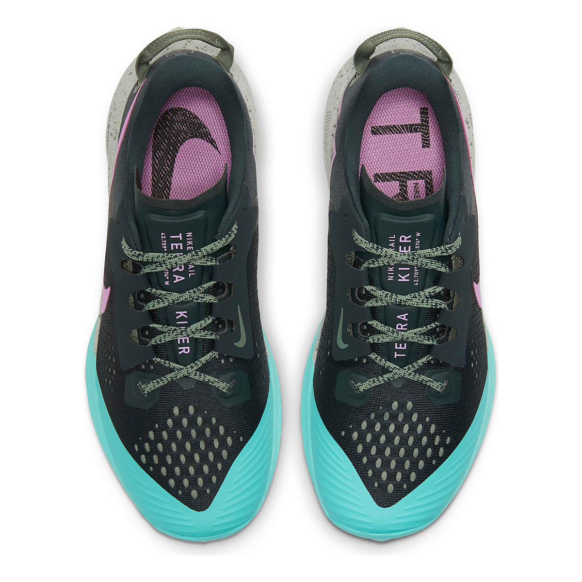 Women's Nike Air Zoom Terra Kiger 6 Trail Running Shoe - Color: Seaweed/Beyond Pink - Size: 5 - Width: Regular, Seaweed/Beyond Pink, large, image 4