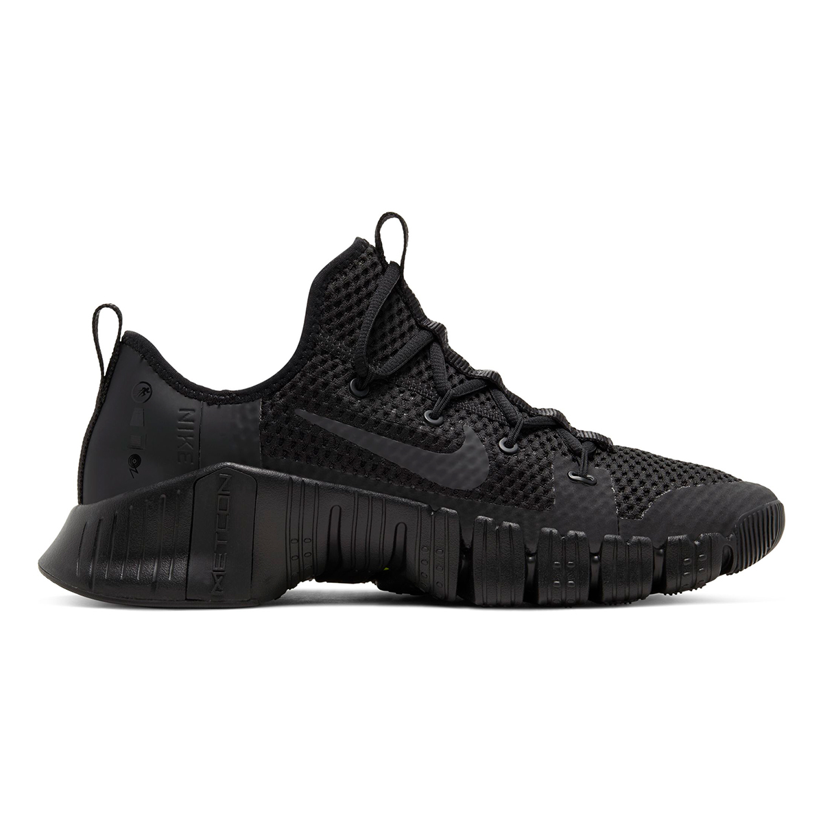 Nike Free Metcon 3 Training Shoes - Color: Black/Black/Volt/Anthracite - Size: 5 - Width: Regular, Black/Volt/Anthracite, large, image 2