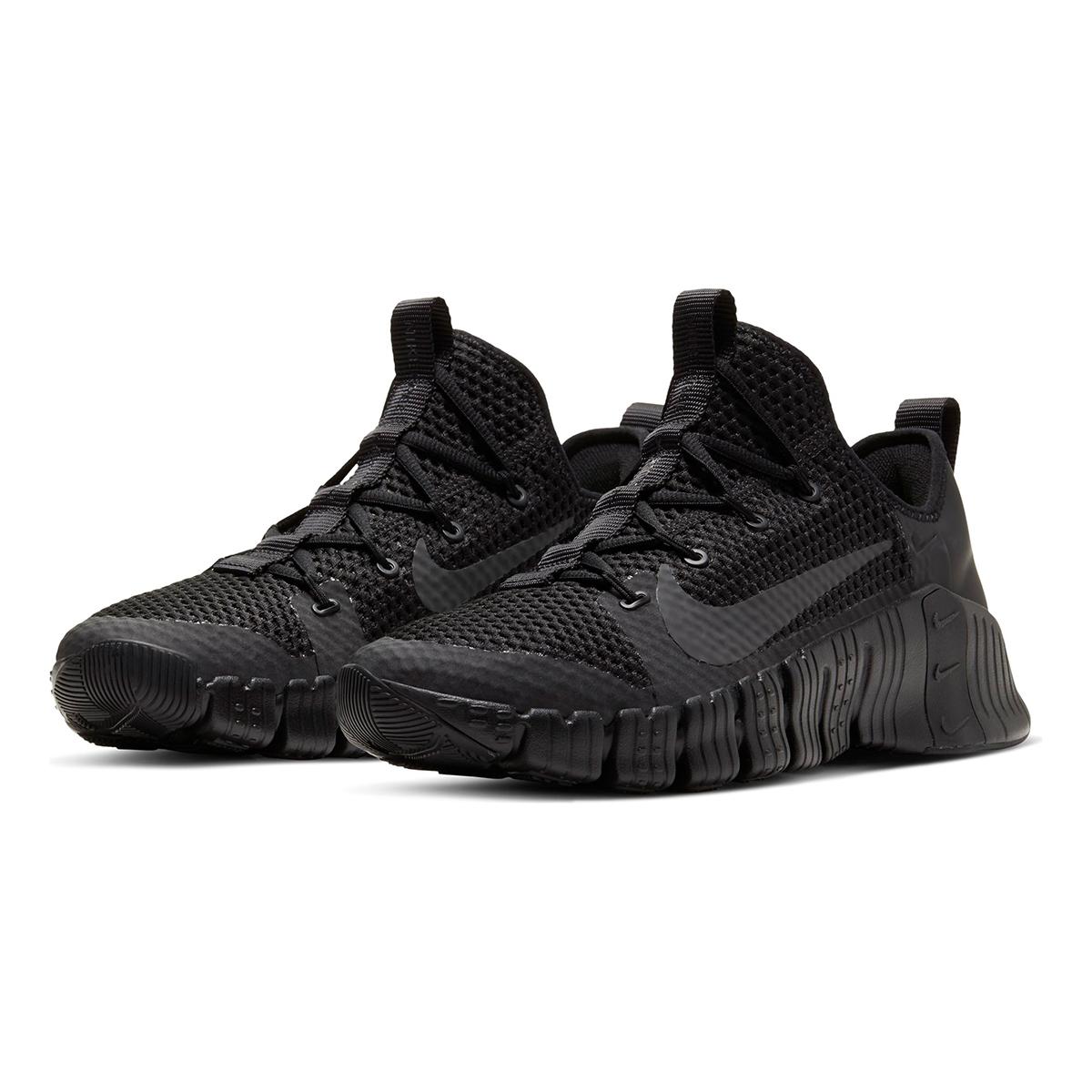 Nike Free Metcon 3 Training Shoes - Color: Black/Black/Volt/Anthracite - Size: 5 - Width: Regular, Black/Volt/Anthracite, large, image 6