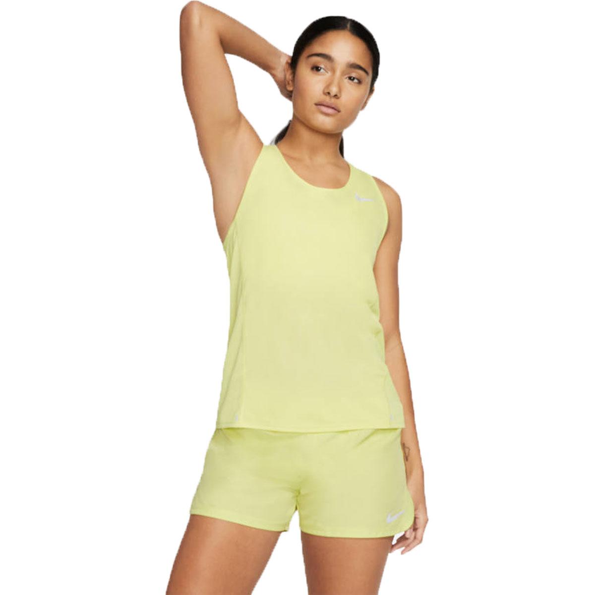 Women's Nike City Sleek Tank - Color: Limelight/Reflective - Size: S, Limelight/Reflective, large, image 1