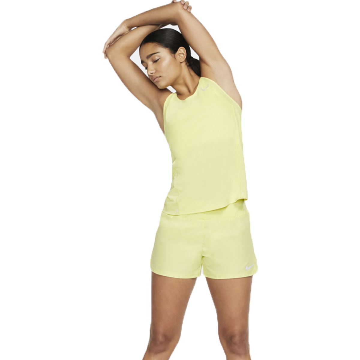 Women's Nike City Sleek Tank - Color: Limelight/Reflective - Size: S, Limelight/Reflective, large, image 2