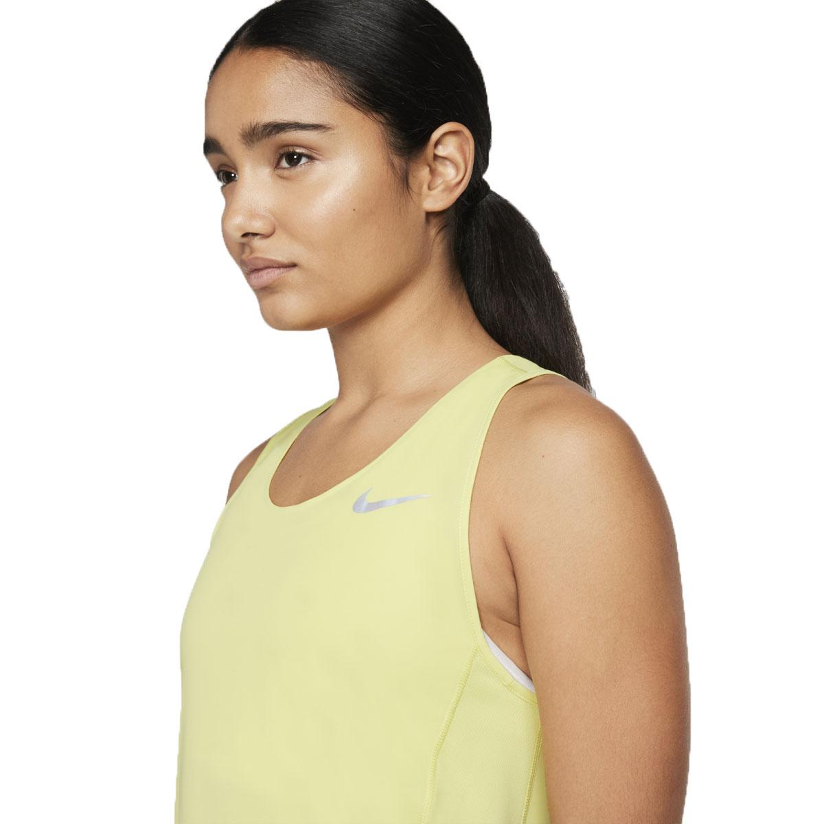 Women's Nike City Sleek Tank - Color: Limelight/Reflective - Size: S, Limelight/Reflective, large, image 3