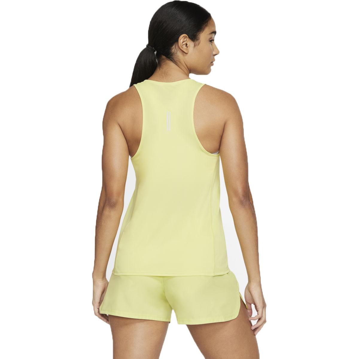 Women's Nike City Sleek Tank - Color: Limelight/Reflective - Size: S, Limelight/Reflective, large, image 4