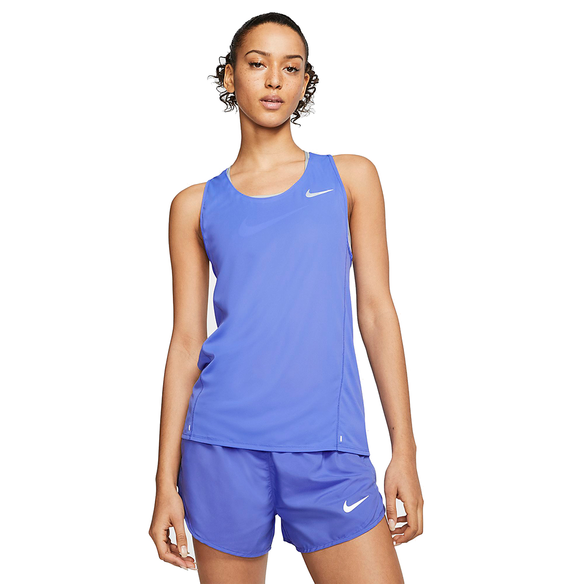 Women's Nike City Sleek Running Tank - Color: Sapphire - Size: XS, Sapphire, large, image 1