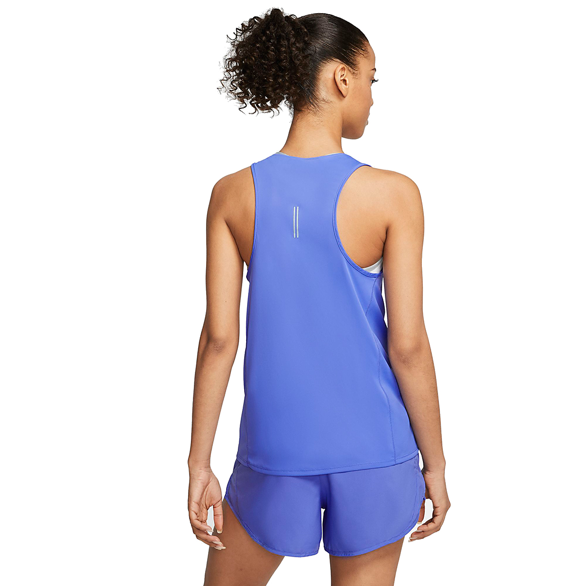 Women's Nike City Sleek Running Tank - Color: Sapphire - Size: XS, Sapphire, large, image 2