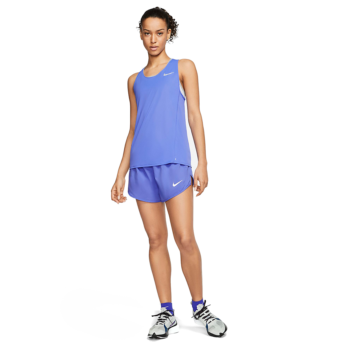 Women's Nike City Sleek Running Tank - Color: Sapphire - Size: XS, Sapphire, large, image 3
