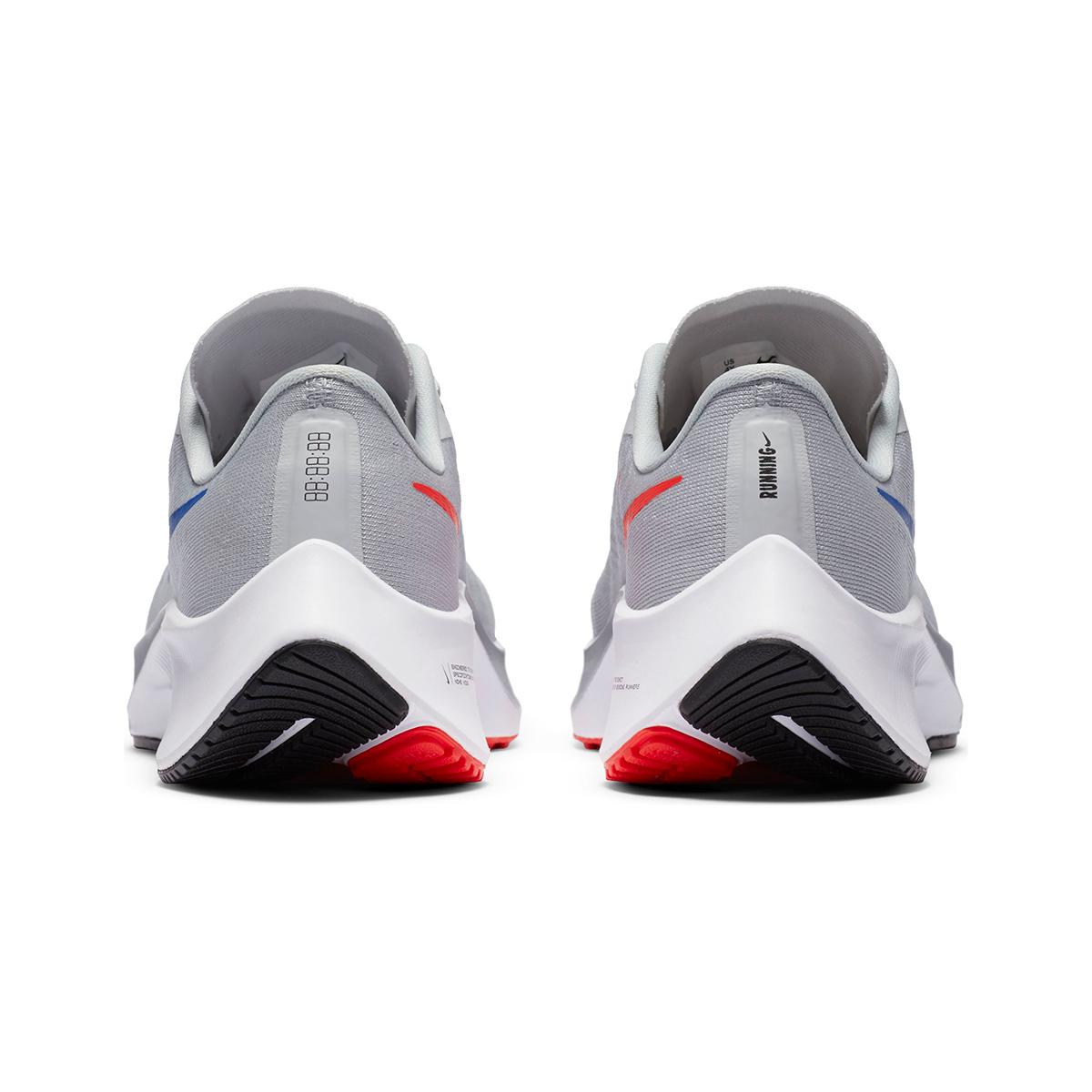 Kid's Nike Air Zoom Pegasus 37 Running Shoe - Color: Pure Platinum/Wolf Grey/Bright Crimson/Racer Blue - Size: 1 - Width: Regular, Pure Platinum/Wolf Grey/Bright Crimson/Racer Blue, large, image 3