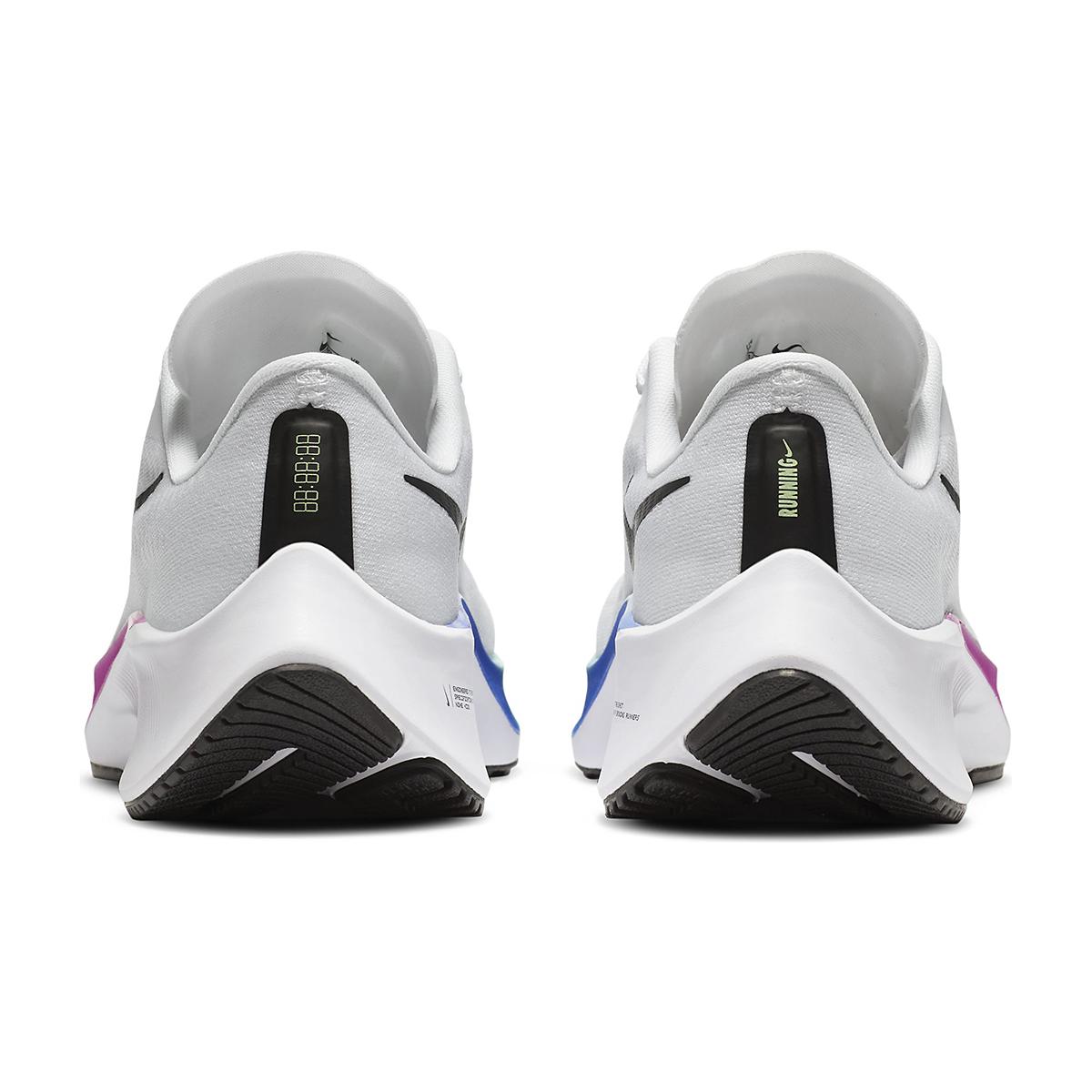 Kid's Nike Grade School Air Zoom Pegasus 37 Running Shoe - Color: White/Jade Aura-Flash Crimson - Size: 1 - Width: Regular, White/Jade Aura-Flash Crimson, large, image 5