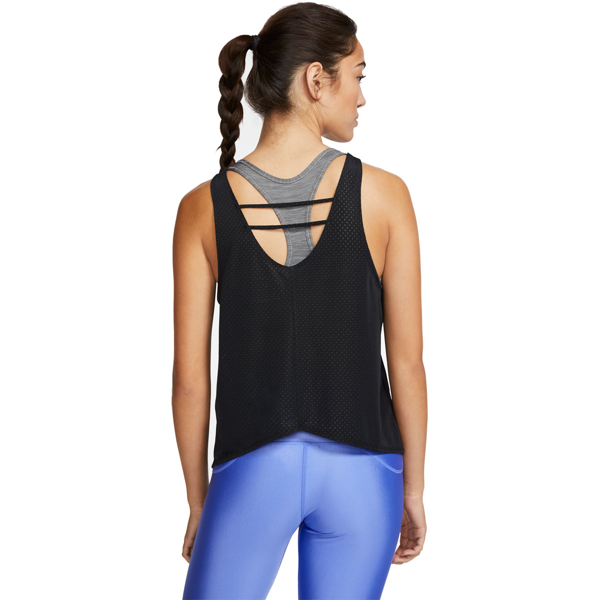 Women's Nike Breathe Running Tank - Color: Black/Reflective Silver - Size: XS, Black/Reflective Silver, large, image 2