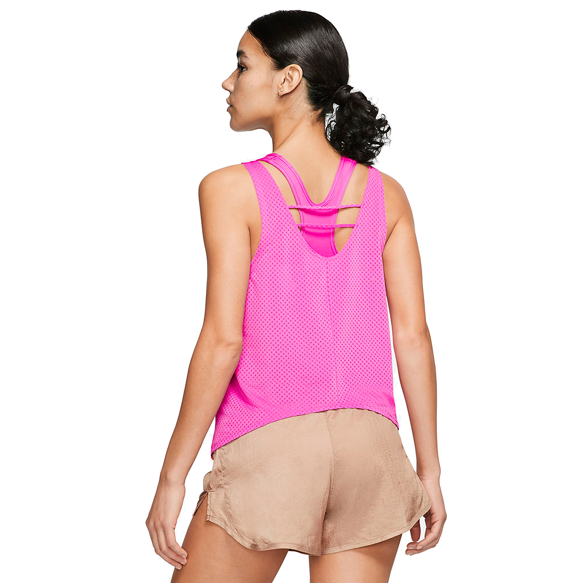 Women's Nike Breathe Running Tank - Color: Fire Pink - Size: XS, Fire Pink, large, image 2