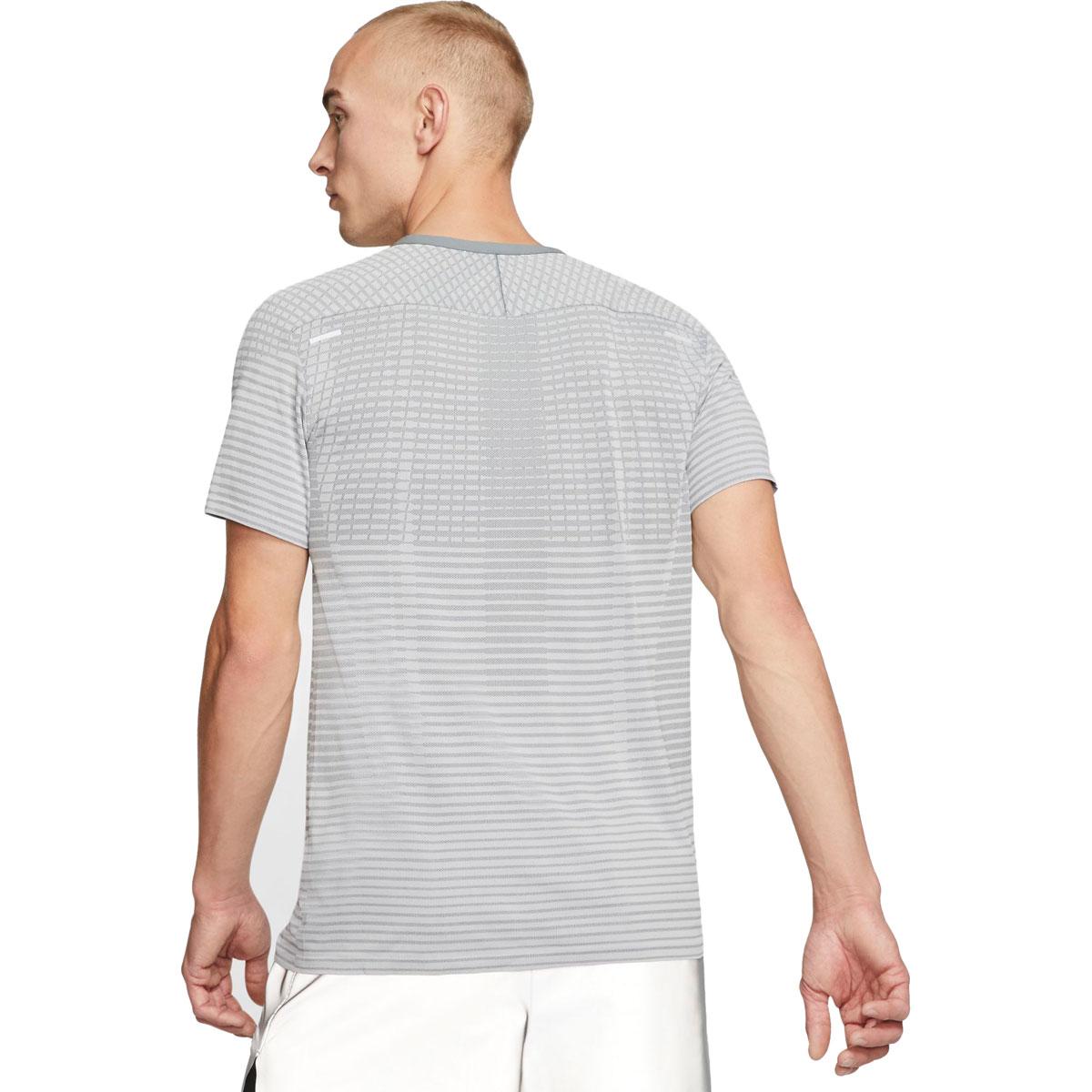 Men's Nike TechKnit Ultra Running Top - Color: Smoke Grey/Lt Smoke Grey/Reflective Silver - Size: M, Smoke Grey/Light Smoke Grey/Reflective Silver, large, image 2
