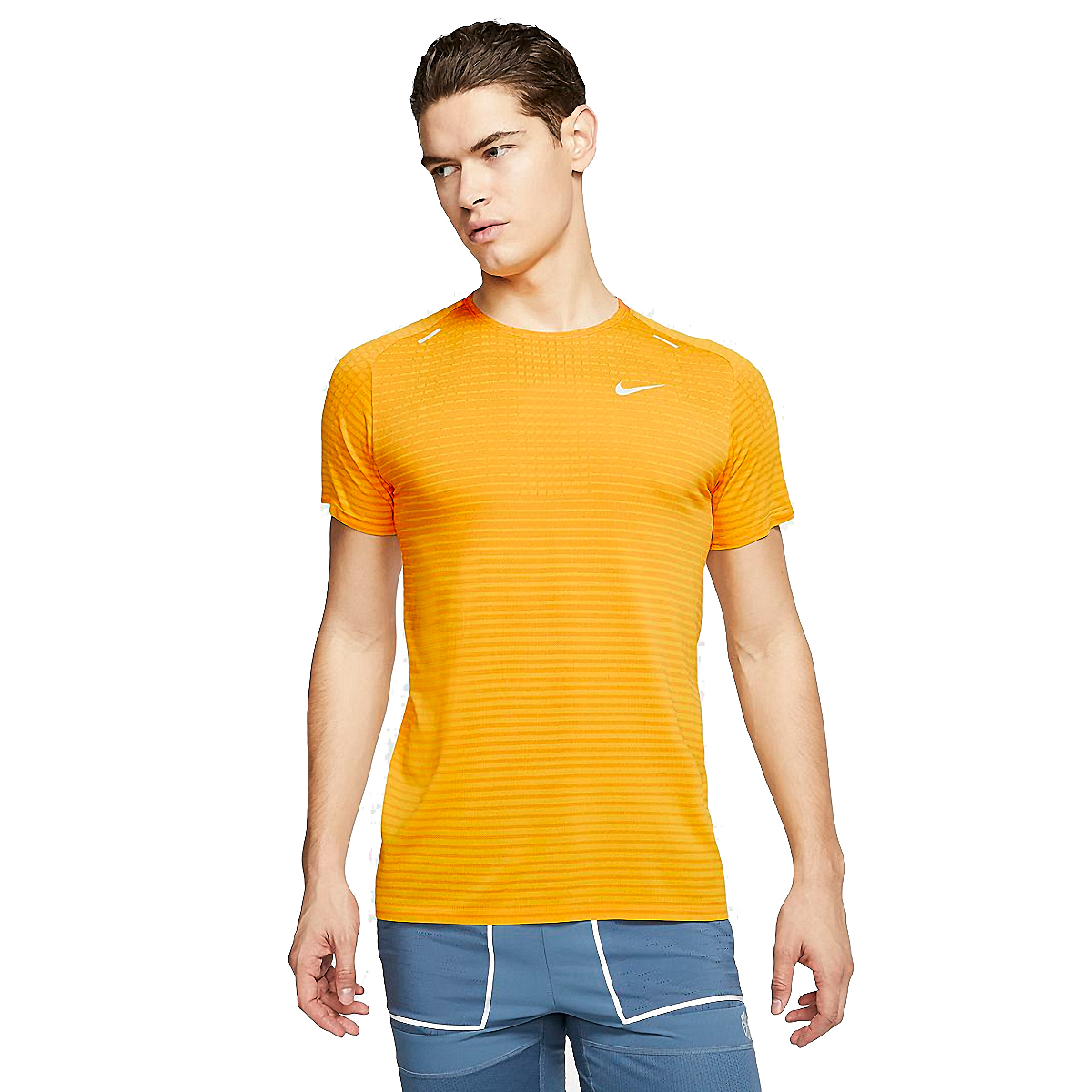 Men's Nike Techknit Ultra Short Sleeve  - Color: University Gold - Size: S, University Gold, large, image 1