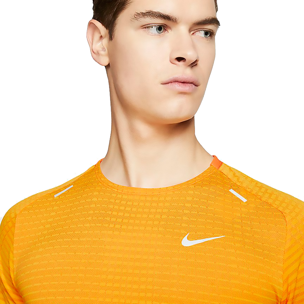 Men's Nike Techknit Ultra Short Sleeve  - Color: University Gold - Size: S, University Gold, large, image 3