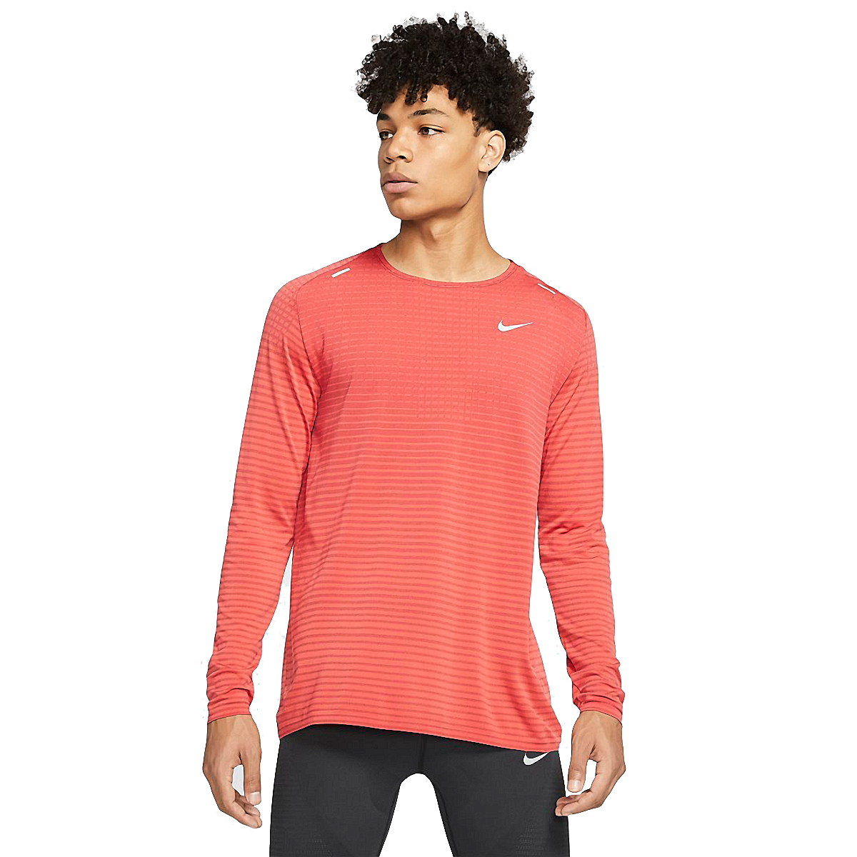 Men's Nike Techknit Ultra Long Sleeve - Color: Track Red/Noble Red - Size: S, Track Red/Noble Red, large, image 1