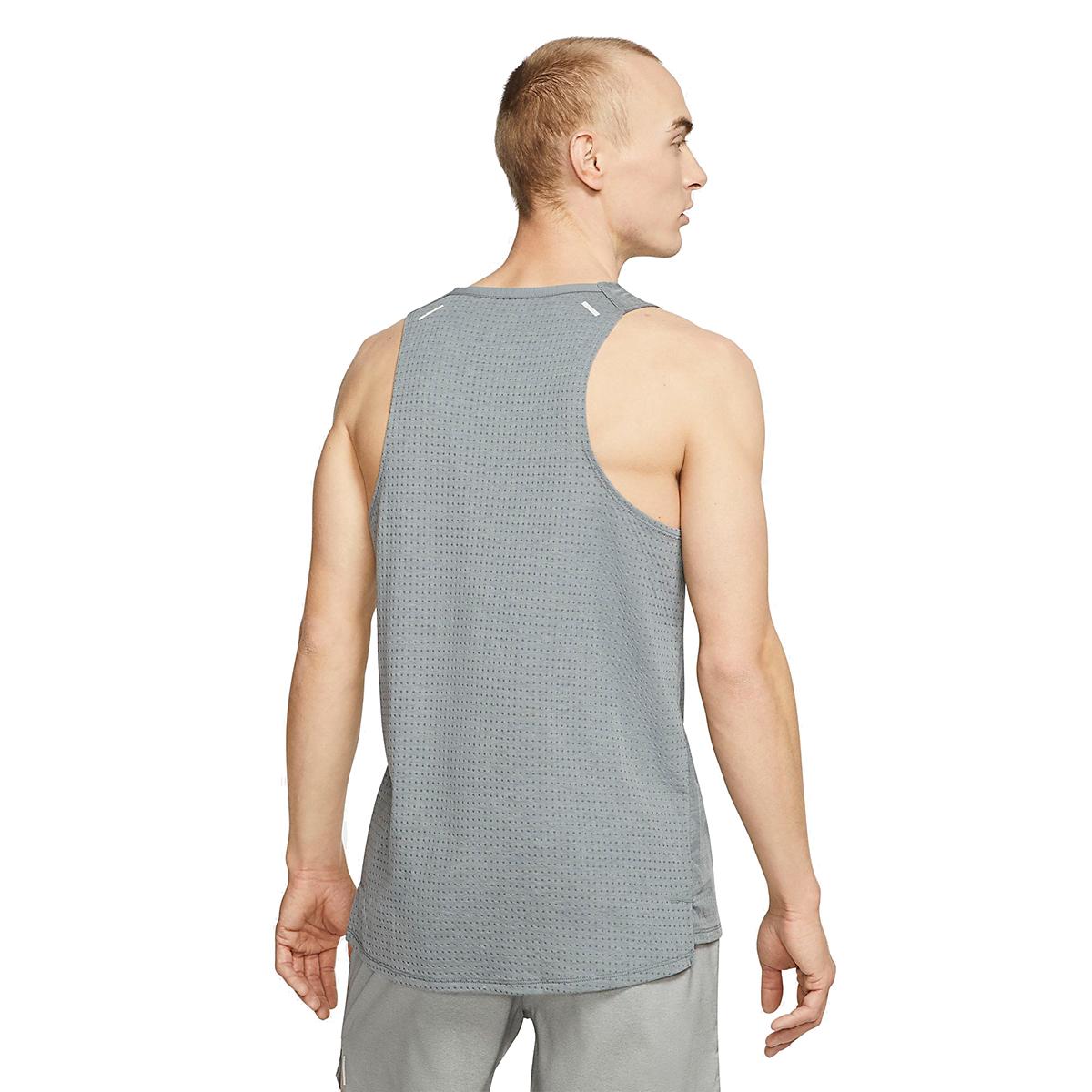 Men's Nike Rise 365 Running Tank - Color: Smoke Grey/Heather - Size: S, Smoke Grey/Heather, large, image 2