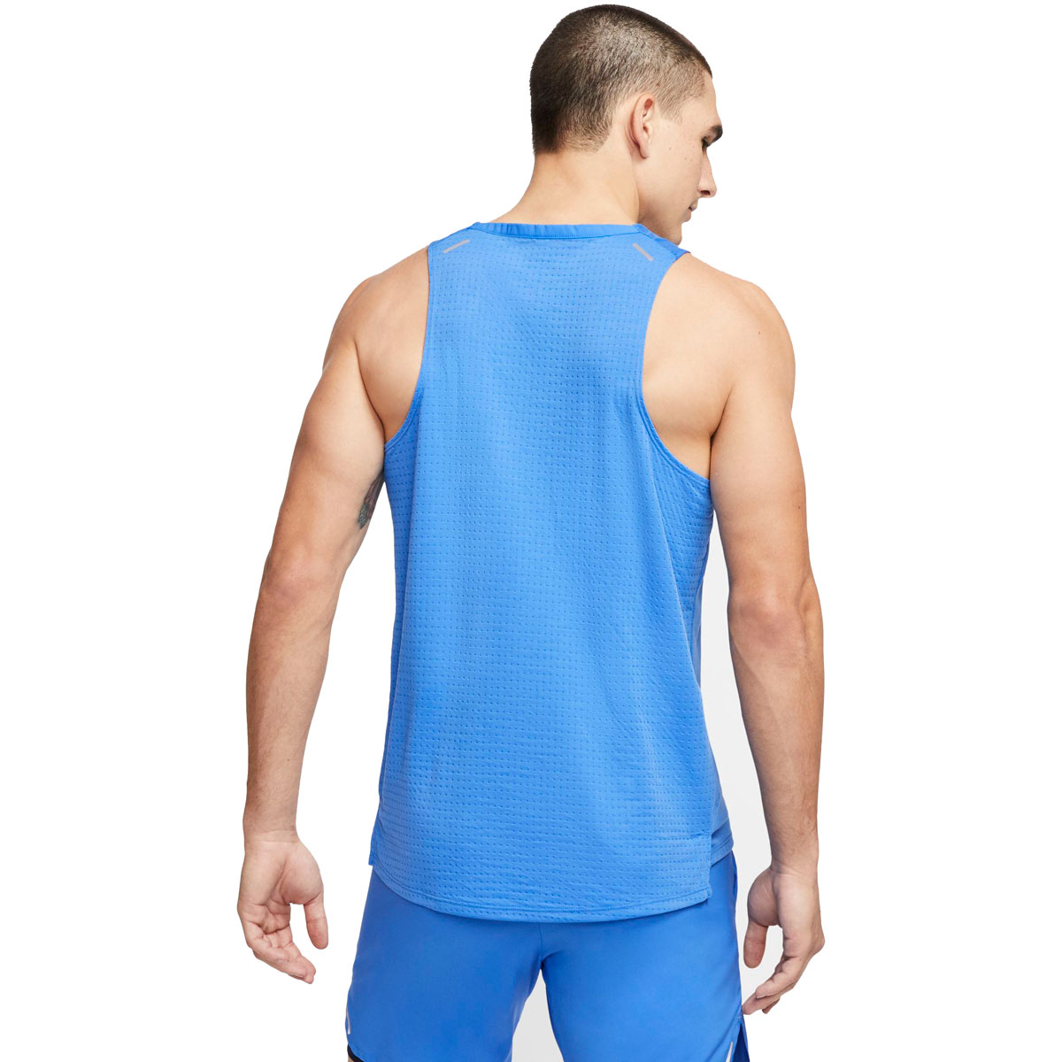 Men's Nike Rise 365 Running Tank - Color: Pacific Blue/Reflective Silver - Size: S, Pacific Blue/Reflective Silver, large, image 2