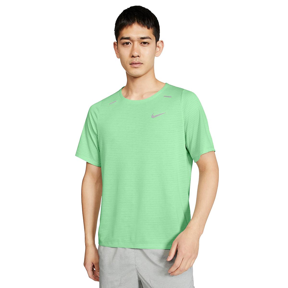 Men's Nike Rise 365 Short Sleeve  - Color: Cucumber Calm - Size: S, Cucumber Calm, large, image 1