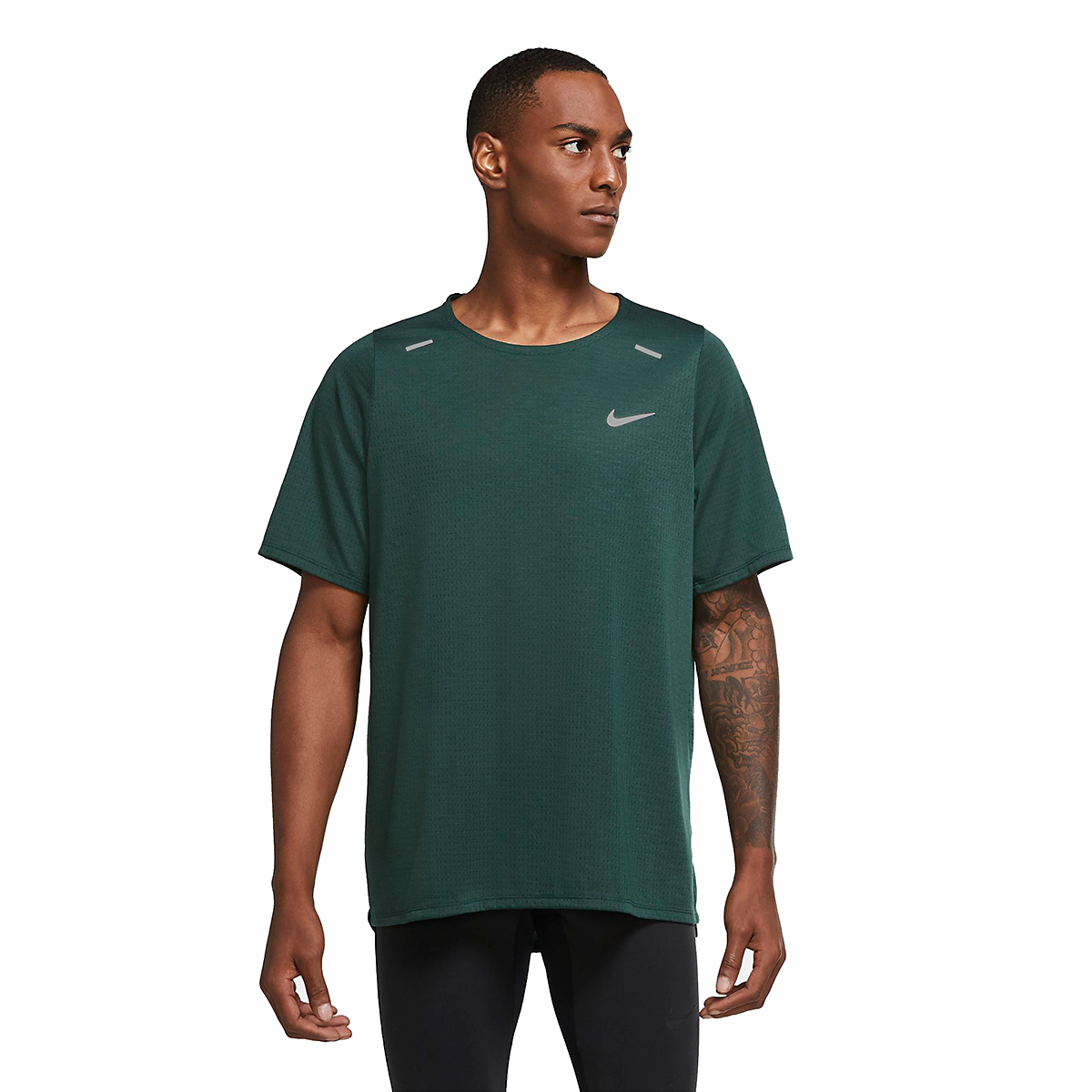 Men's Nike Rise 365 Running Top - Color: Pro Green - Size: S, Pro Green, large, image 3