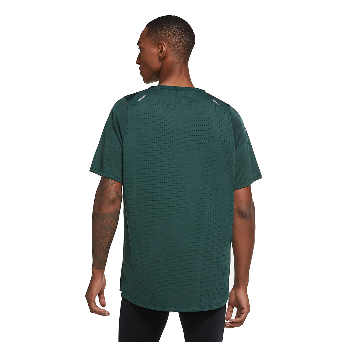 Men's Nike Rise 365 Running Top - Color: Pro Green - Size: S, Pro Green, large, image 4