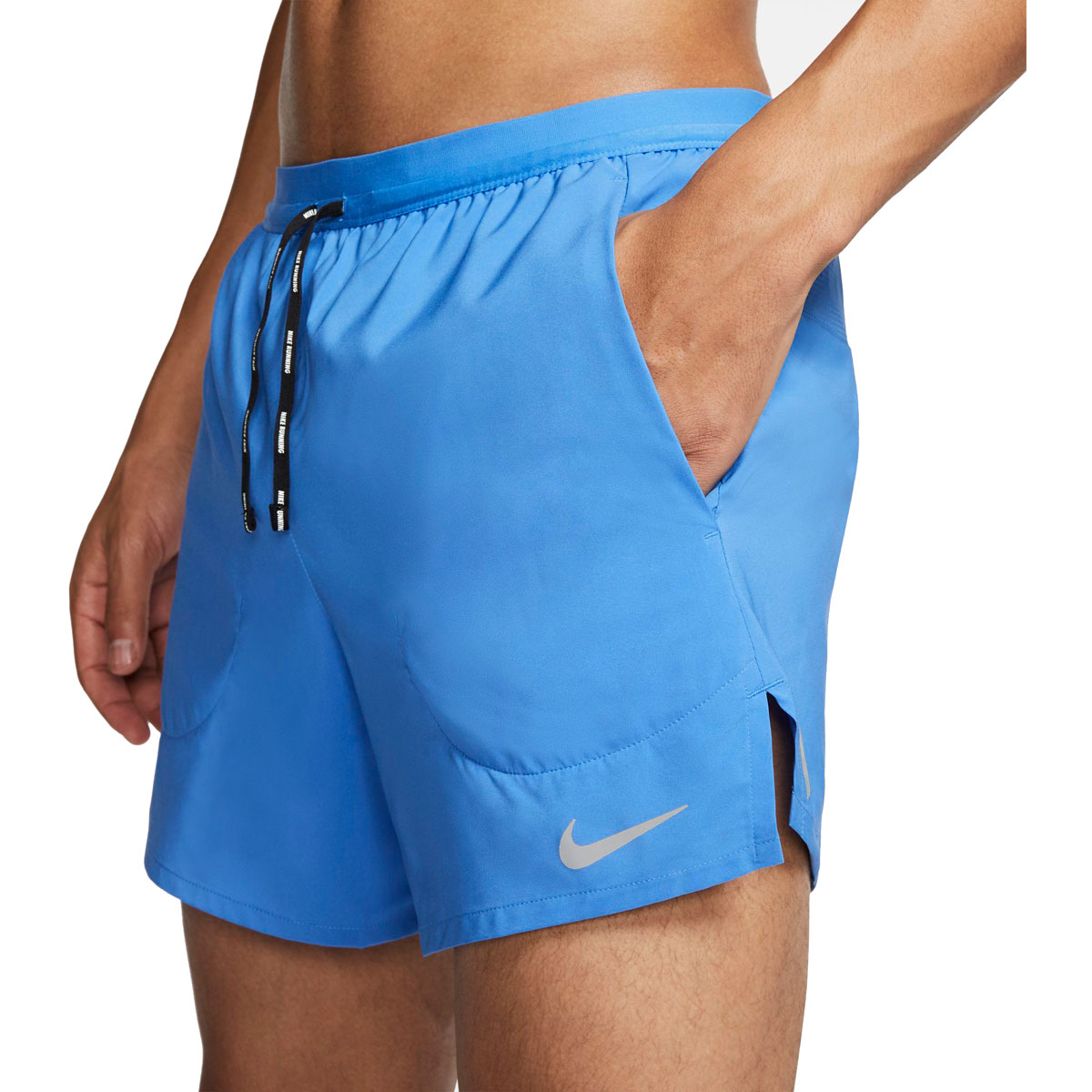 """Men's Nike Flex Stride 5"""" Brief Running Shorts - Color: Pacific Blue/Reflective Silver - Size: S, Pacific Blue/Reflective Silver, large, image 3"""