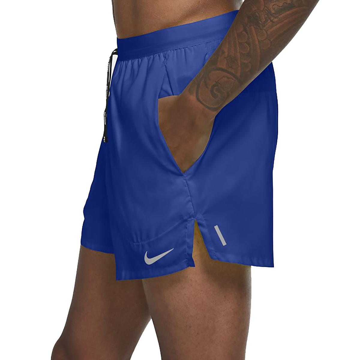 """Men's Nike Flex Stride 5"""" Brief Running Shorts - Color: Game Royal/Reflective Silver - Size: S, Game Royal/Reflective Silver, large, image 3"""