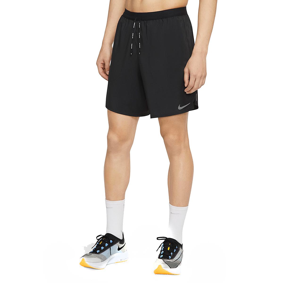 """Men's Nike Flex Stride 7"""" Brief Running Shorts - Color: Black - Size: S, Black, large, image 1"""