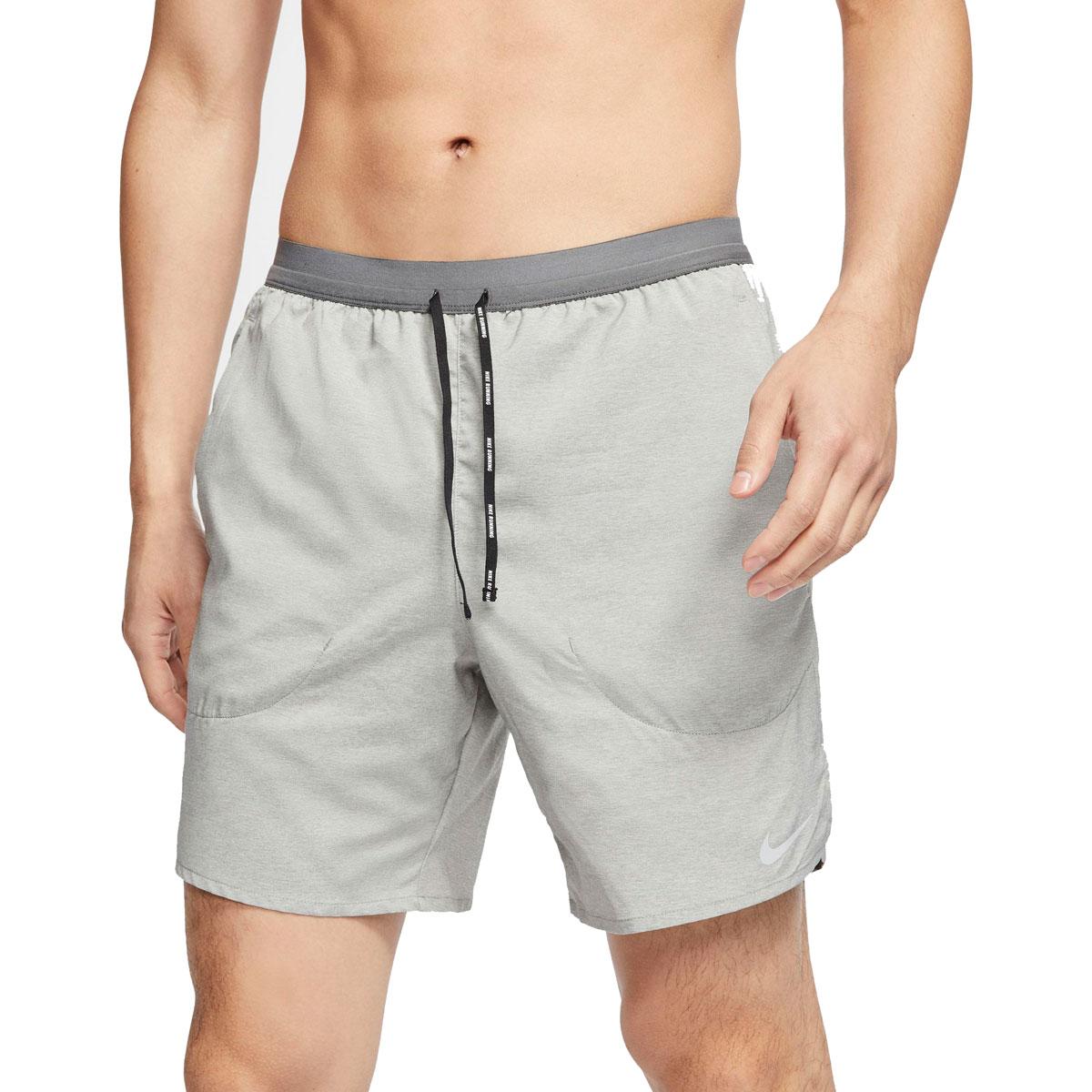 "Men's Nike Flex Stride 7"" Brief Running Shorts - Color: Iron Grey/Heather/Reflective Silver - Size: S, Iron Grey/Heather/Reflective Silver, large, image 1"