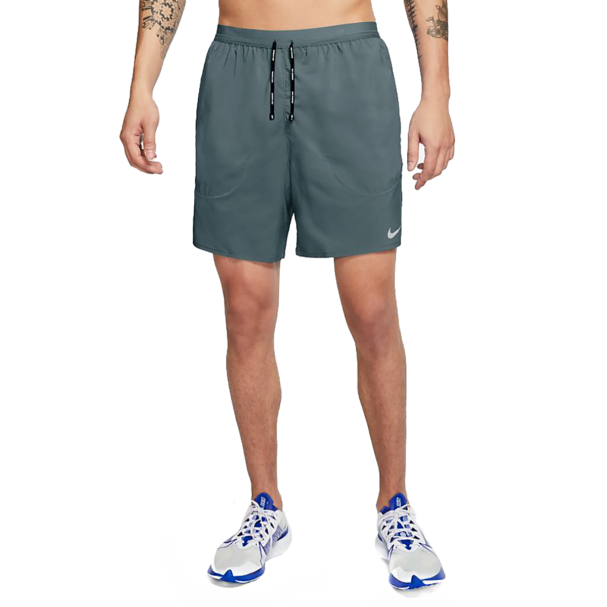 """Men's Nike Flex Stride 7"""" Brief Running Shorts - Color: Hasta/Reflective Silver - Size: XS, Hasta/Reflective Silver, large, image 1"""