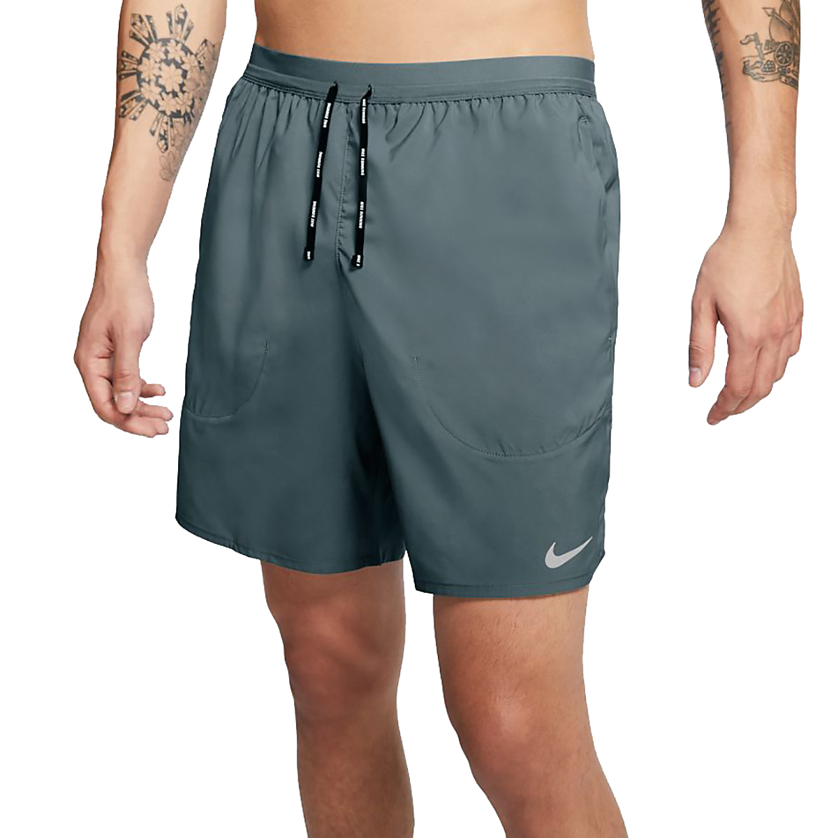 """Men's Nike Flex Stride 7"""" Brief Running Shorts - Color: Hasta/Reflective Silver - Size: XS, Hasta/Reflective Silver, large, image 3"""