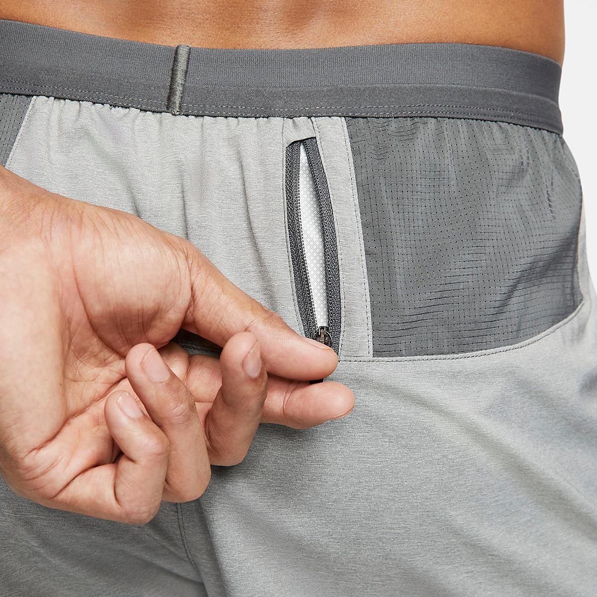 "Men's Nike Men's Flex Stride 5"" 2-in-1 Short - Color: Iron Grey/ Heather/Reflective Silver - Size: S, Iron Grey/ Heather/Reflective Silver, large, image 6"