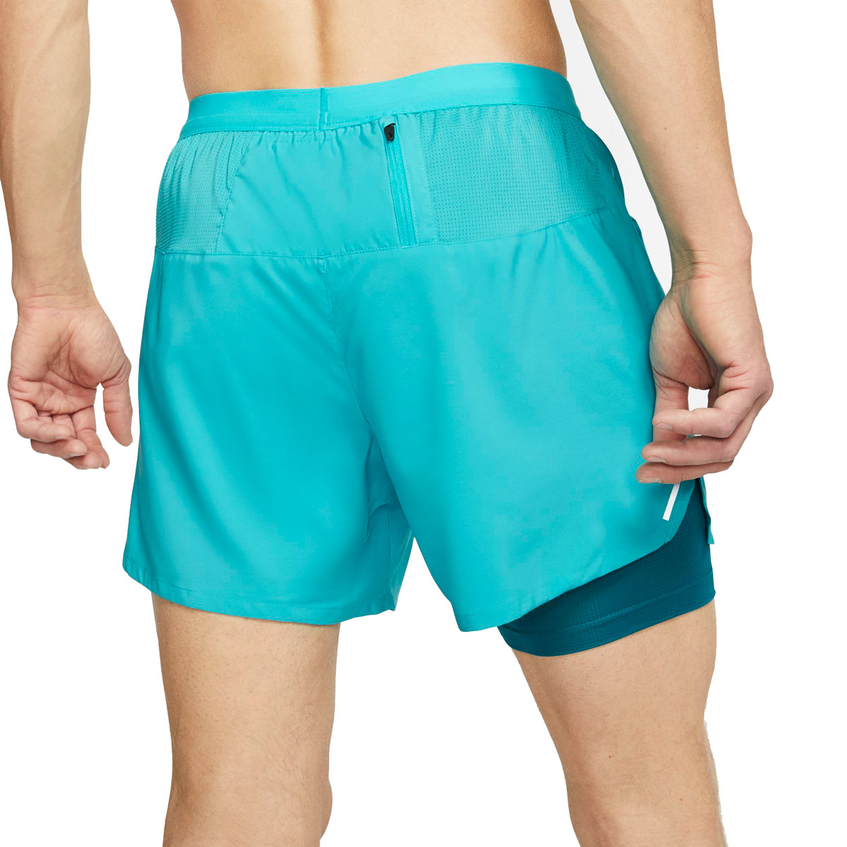 "Men's Nike Flex Stride 5"" 2-In-1 Running Shorts - Color: Oracle Aqua/Reflective Silver - Size: S, Oracle Aqua/Reflective Silver, large, image 2"