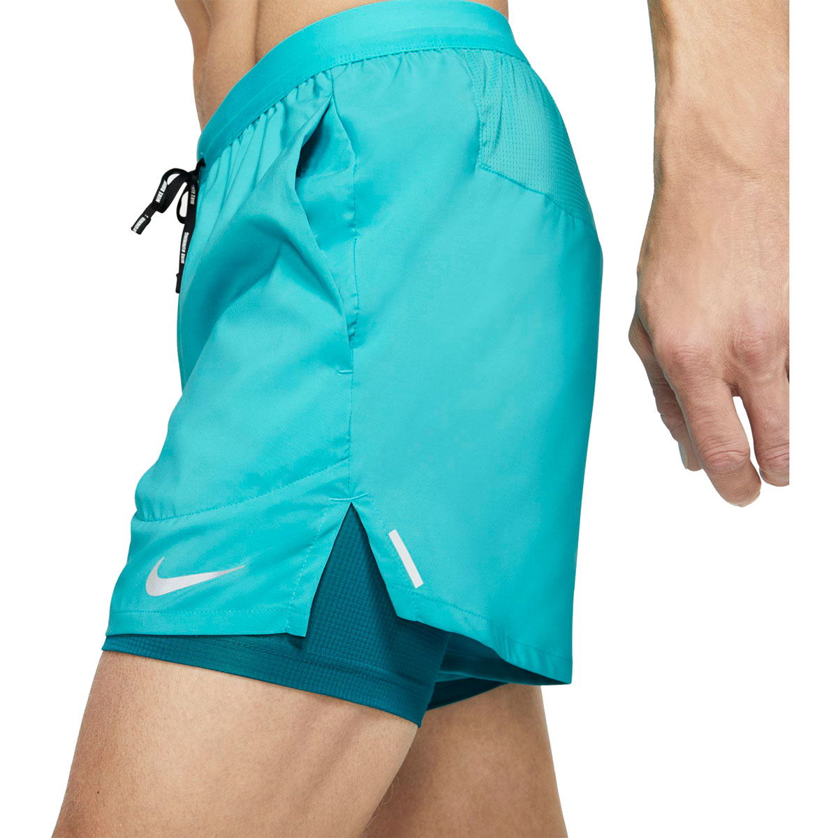 "Men's Nike Flex Stride 5"" 2-In-1 Running Shorts - Color: Oracle Aqua/Reflective Silver - Size: S, Oracle Aqua/Reflective Silver, large, image 3"