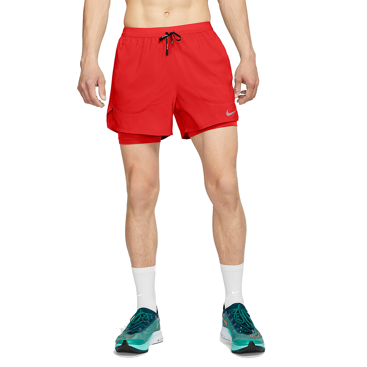 """Men's Nike Flex Stride 5"""" 2-In-1 Running Shorts - Color: Chile Red - Size: L, Chile Red, large, image 1"""