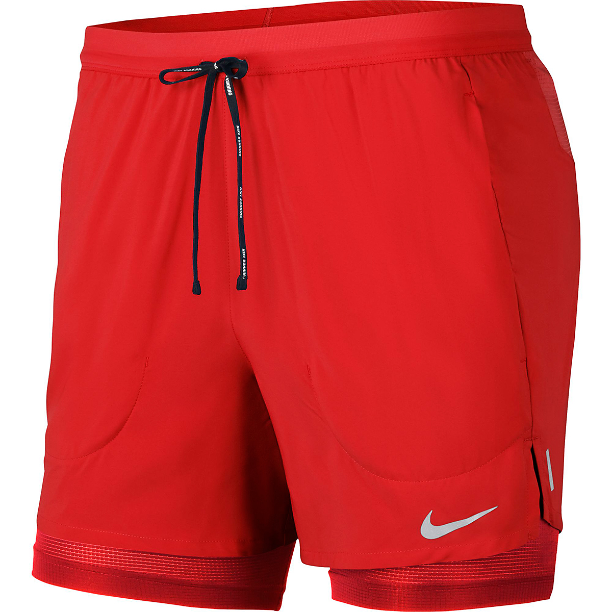 """Men's Nike Flex Stride 5"""" 2-In-1 Running Shorts - Color: Chile Red - Size: L, Chile Red, large, image 4"""