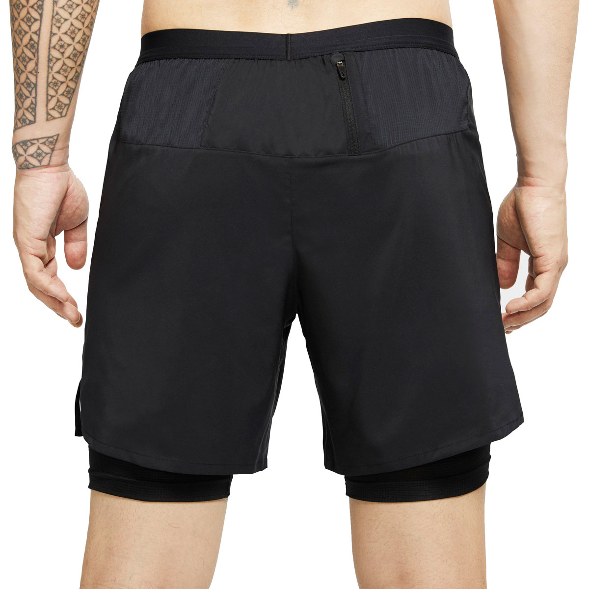 "Men's Nike Flex Stride 7"" 2-In-1 Running Shorts - Color: Black/Reflective Silver - Size: XXL, Black/Reflective Silver, large, image 2"