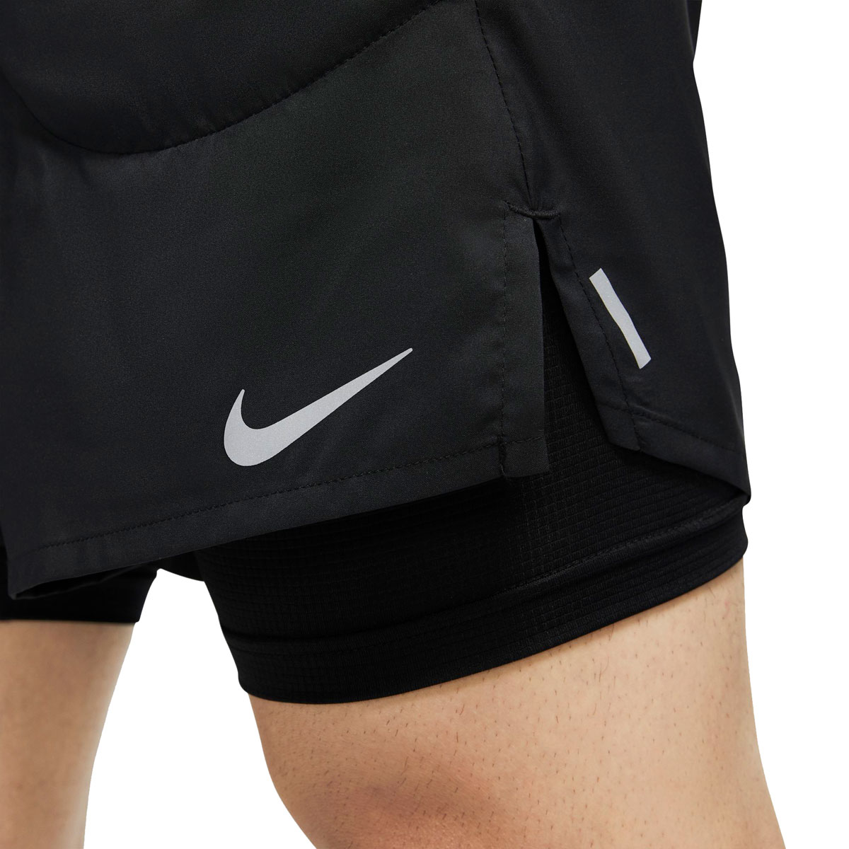 "Men's Nike Flex Stride 7"" 2-In-1 Running Shorts - Color: Black/Reflective Silver - Size: XXL, Black/Reflective Silver, large, image 4"
