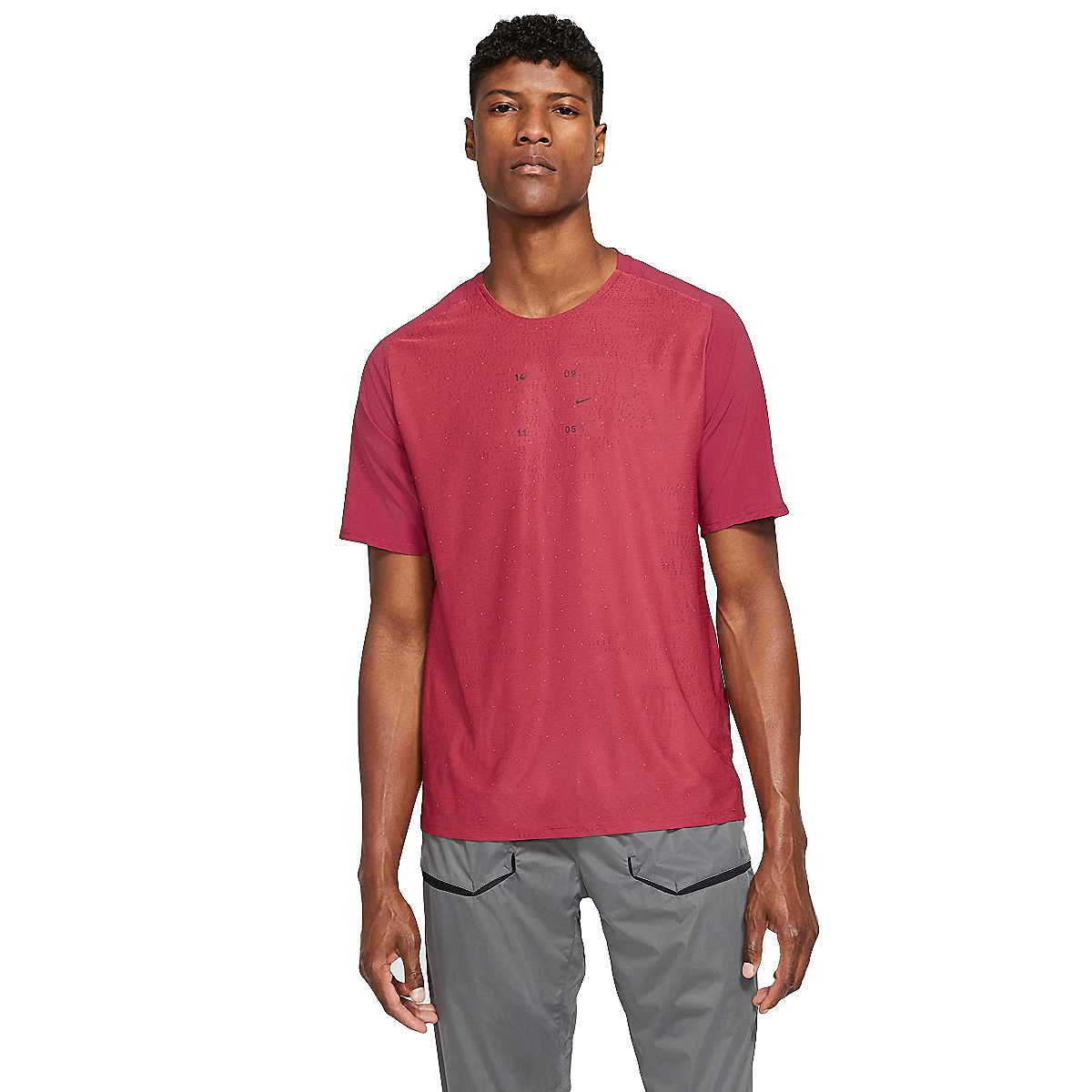 Men's Nike Tech Pack Top Hybrid Short Sleeve  - Color: Red - Size: S, Red, large, image 1