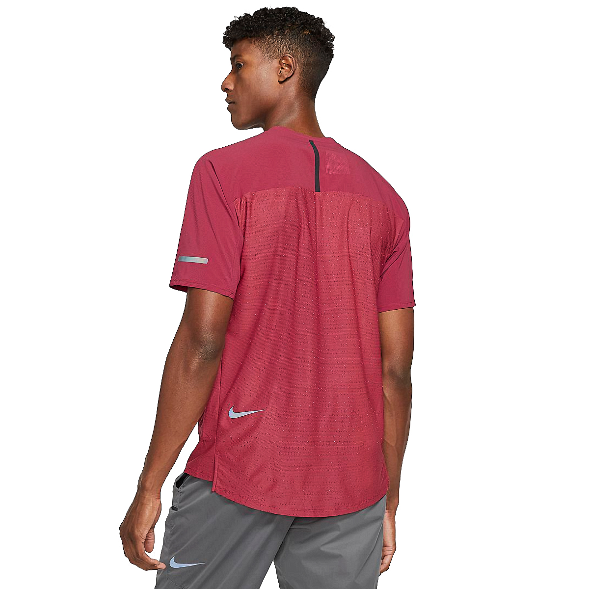 Men's Nike Tech Pack Top Hybrid Short Sleeve  - Color: Red - Size: S, Red, large, image 2