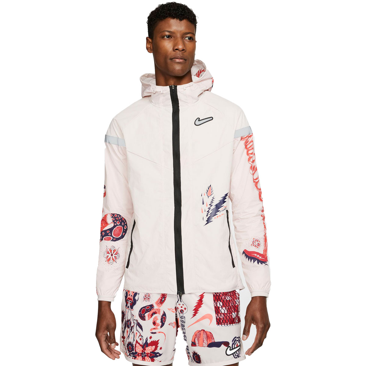 Men's Nike Windrunner Wild Run Running Jacket - Color: Barely Rose/Reflective Silver - Size: S, Barely Rose/Reflective Silver, large, image 1