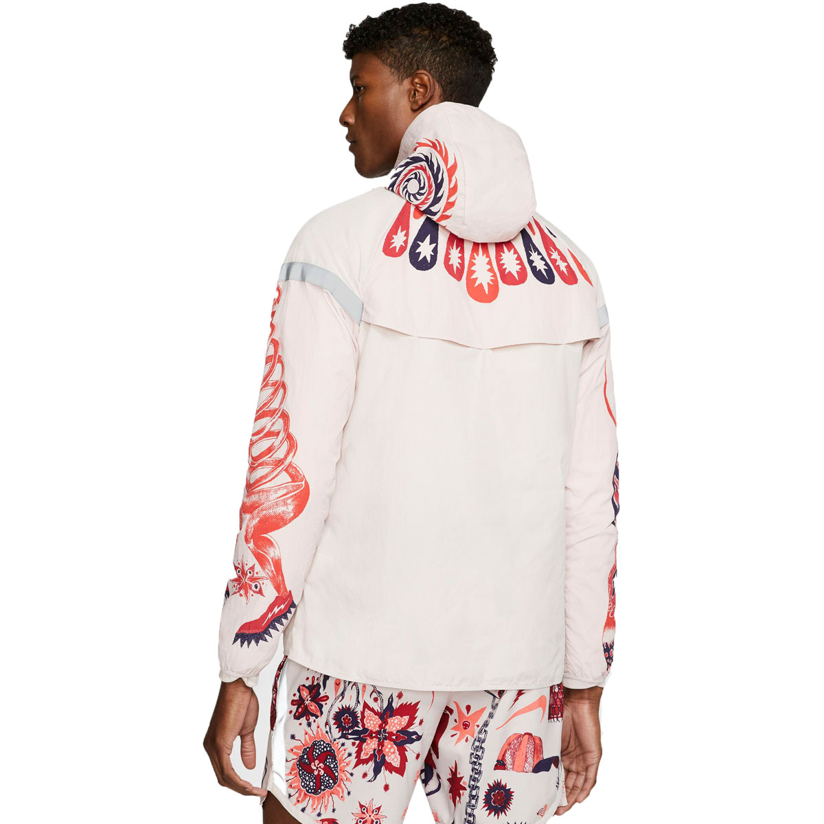 Men's Nike Windrunner Wild Run Running Jacket - Color: Barely Rose/Reflective Silver - Size: S, Barely Rose/Reflective Silver, large, image 2