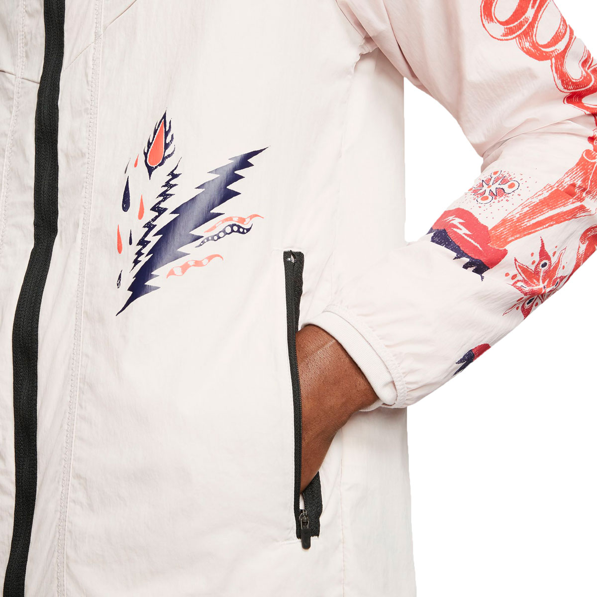 Men's Nike Windrunner Wild Run Running Jacket - Color: Barely Rose/Reflective Silver - Size: S, Barely Rose/Reflective Silver, large, image 3