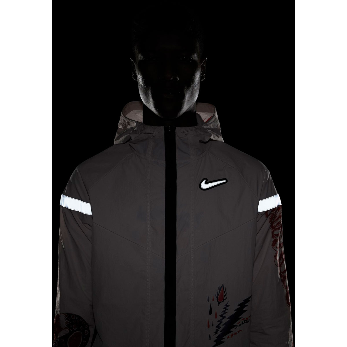 Men's Nike Windrunner Wild Run Running Jacket - Color: Barely Rose/Reflective Silver - Size: S, Barely Rose/Reflective Silver, large, image 4