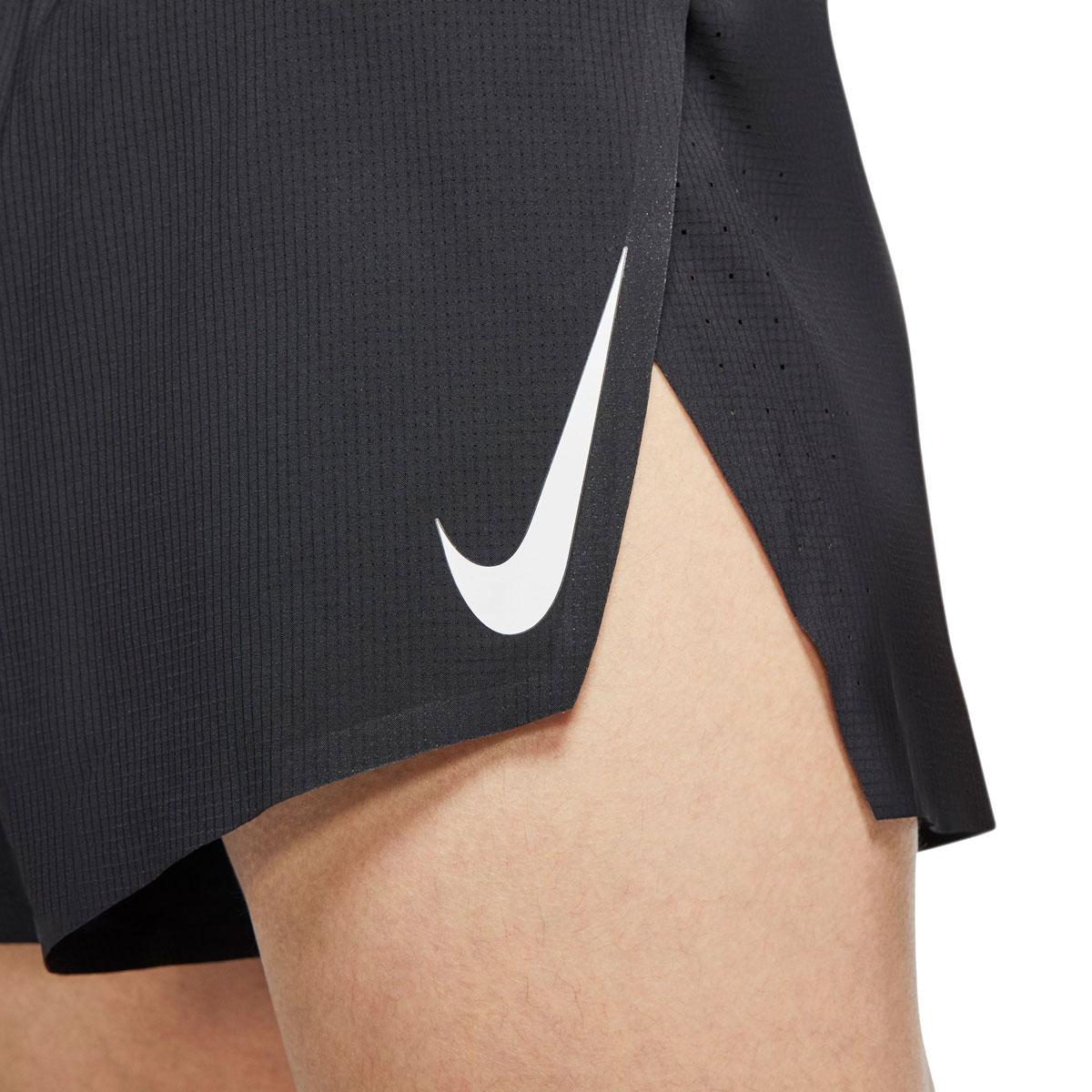 """Men's Nike AeroSwift 2"""" Running Shorts - Color: Black/White - Size: S, Black/White, large, image 3"""