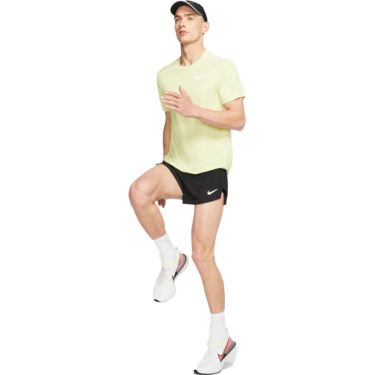 "Men's Nike Fast 2"" Running Shorts - Color: Black/Reflective Silver - Size: S, Black/Reflective Silver, large, image 4"