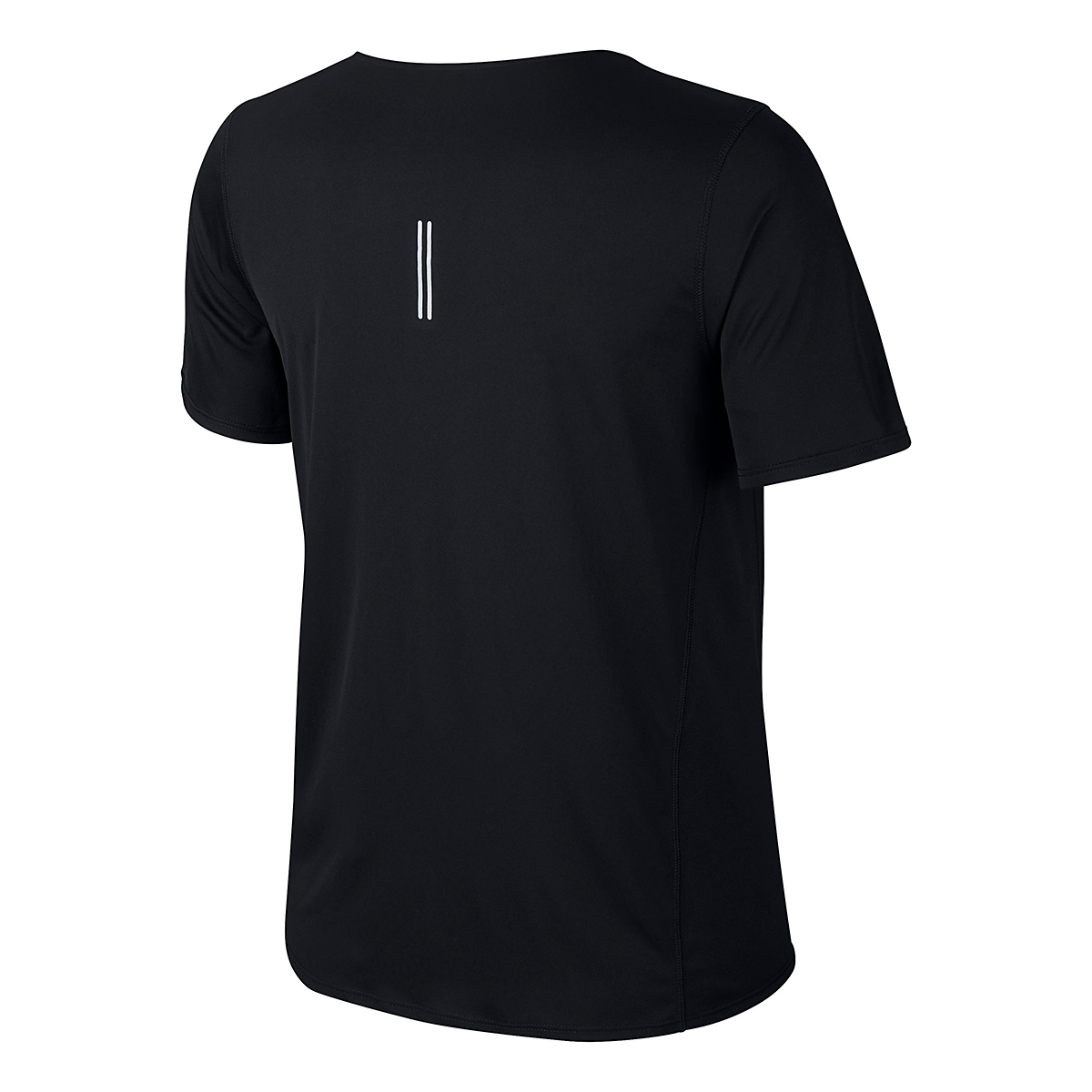 Women's Nike City Sleek Short Sleeve Top - Color: Black/Reflective Silver - Size: XS, Black/Reflective Silver, large, image 4