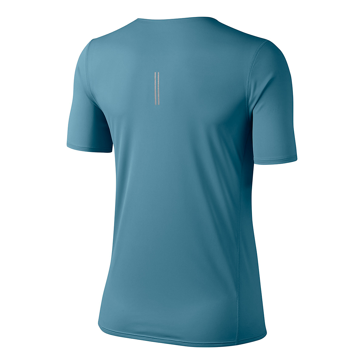Women's Nike City Sleek Short Sleeve Top - Color: Cerulean/Reflective Silver - Size: XS, Cerulean/Reflective Silver, large, image 3