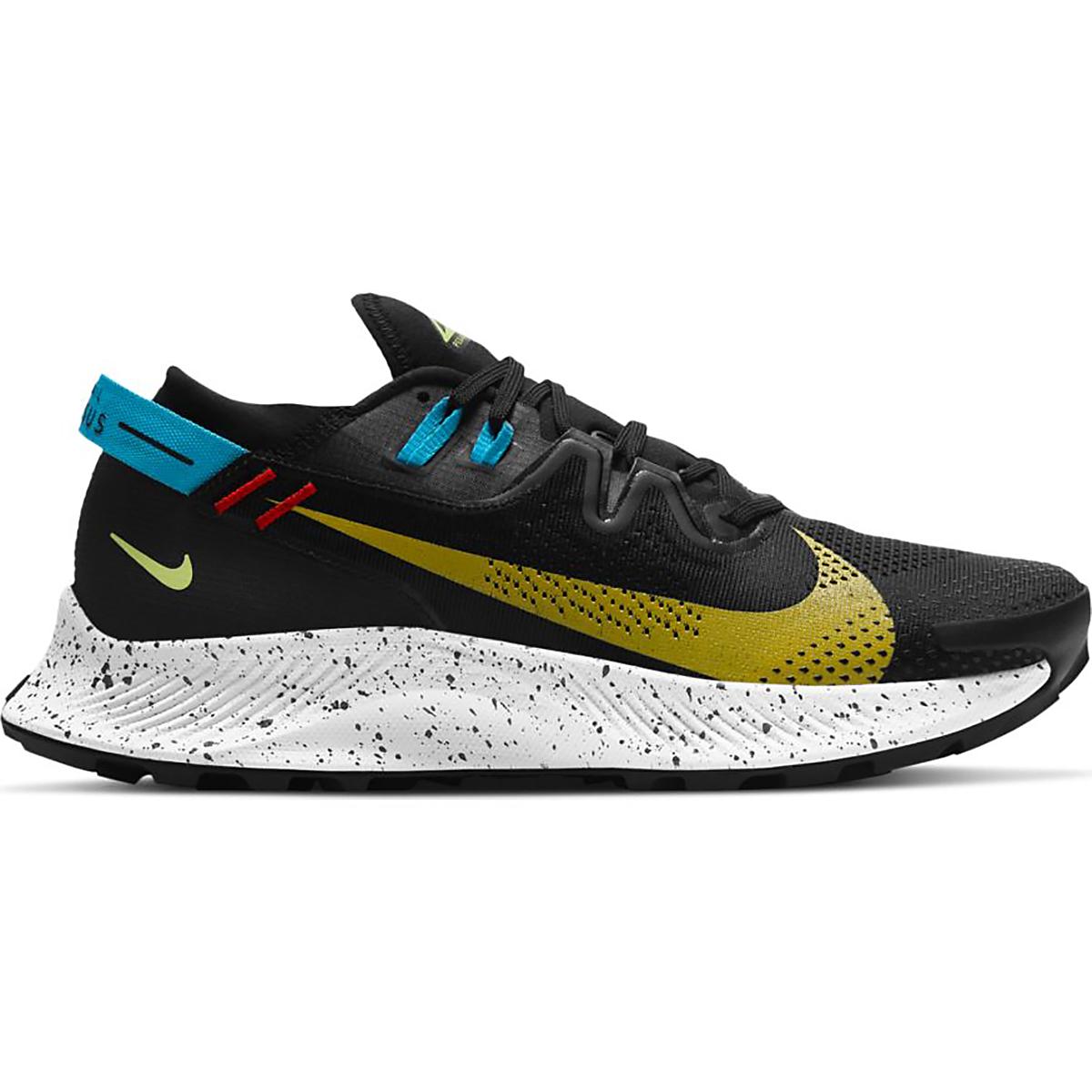 Men's Nike Pegasus Trail 2 Trail Running Shoe - Color: Black/Dark Sulfur-Off Noir-Chile Red - Size: 6 - Width: Regular, Black/Dark Sulfur-Off Noir-Chile Red, large, image 1