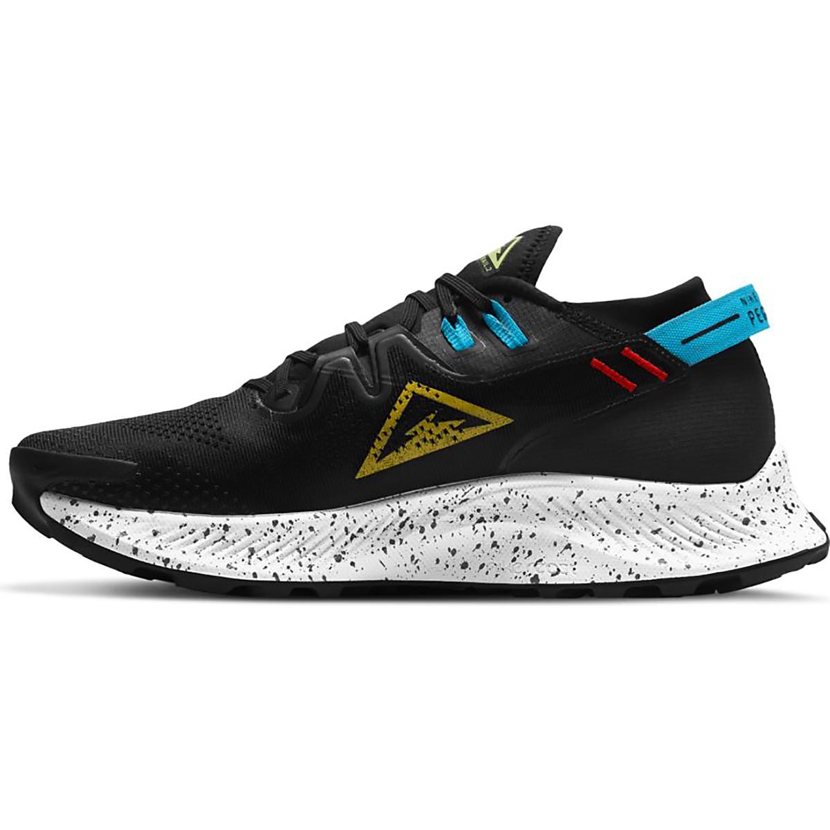 Men's Nike Pegasus Trail 2 Trail Running Shoe - Color: Black/Dark Sulfur-Off Noir-Chile Red - Size: 6 - Width: Regular, Black/Dark Sulfur-Off Noir-Chile Red, large, image 2
